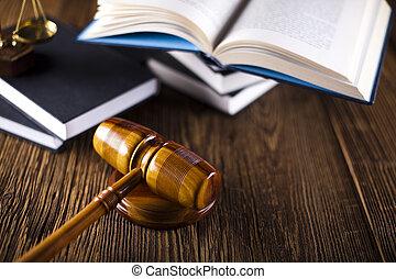 légal, livres, marteau, droit & loi