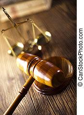 légal, marteau, et, droit & loi, échelle