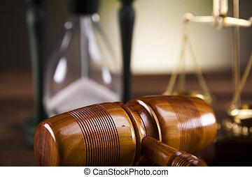 légal, marteau, reproportionnez justice
