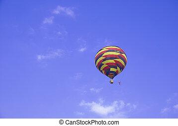 léggömb, felkelés, feláll, színes