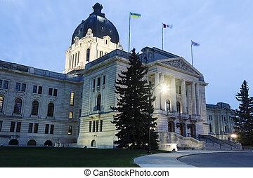 législatif, saskatchewan, bâtiment