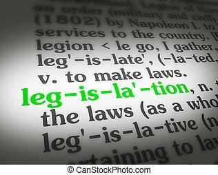 législation, dictionnaire