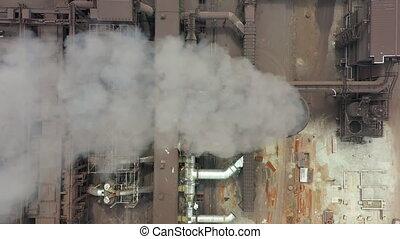 légkör, ökológia, szennyezés, szennyez, iparág, dohányzik, dohányzik, stacks., csövek