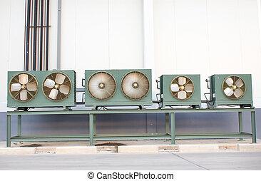 légsűrítő, hideg, erős, elektromos, levegő