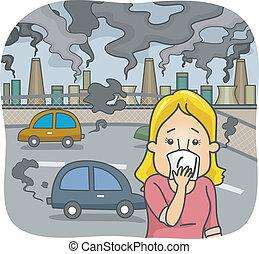 légszennyeződés