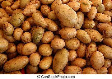 légume, beaucoup, pommes terre, modèle fond