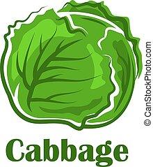 légume, feuilles, croquant, chou vert