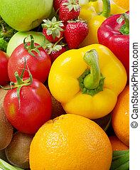 légume, fond, fruits