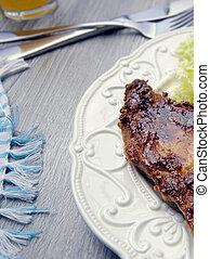 légume frais, bifteck, viande