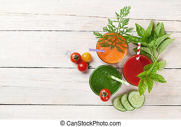 légume frais, smoothie