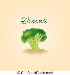 légume, illustrat, vecteur, brocoli