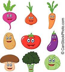 légume, mignon, dessin animé