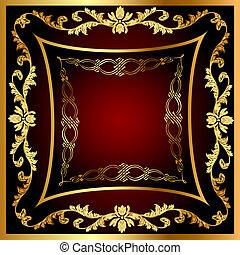 légume, modèle, gold(en), cadre