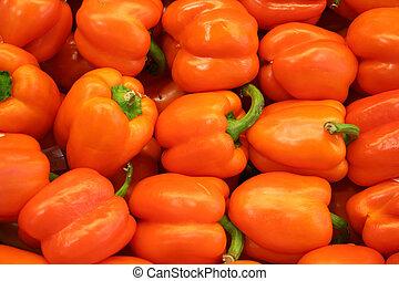 légume, poivre orange, -, cloche