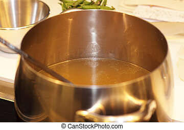 légume, pot, bouillon, aluminium, cuisine
