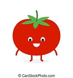 légume, tomate, caractère, mignon