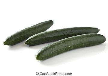 légume, vert, concombre, fruits