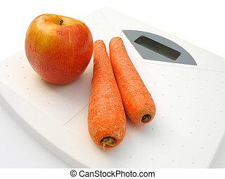 légumes, échelle