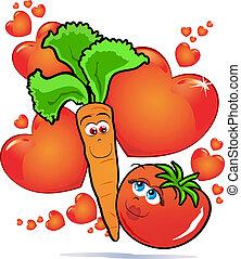 légumes, amour