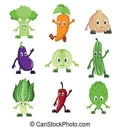 légumes, caractères