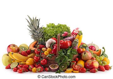 légumes, composition, fruits