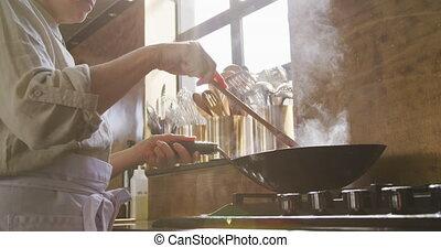 légumes, cuisine, chef cuistot