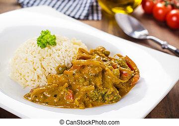 légumes, curry