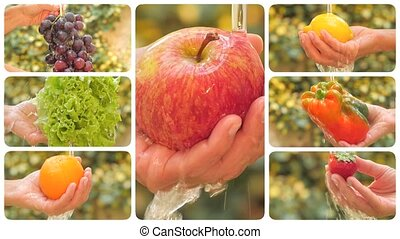 légumes, divers, fruits