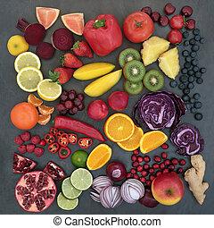 légumes frais, fruit