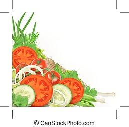 légumes frais, groupe