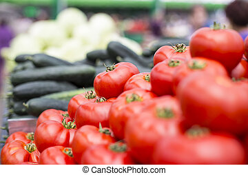 légumes frais, marché