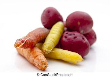 légumes frais, racine, choisi