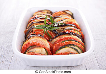 légumes, frit