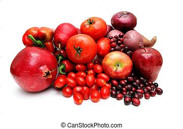 légumes, fruit, rouges