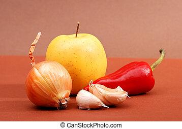 légumes, fruits.