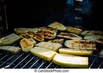 légumes grillés, moule