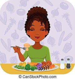 légumes, manger