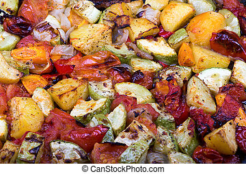légumes, rôti