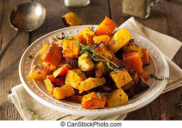 légumes, racine, fait maison, rôti