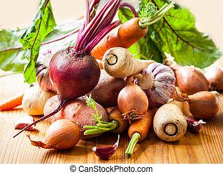 légumes, racine