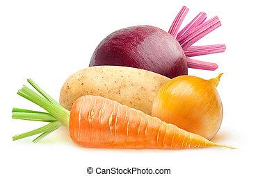 légumes, racine, isolé