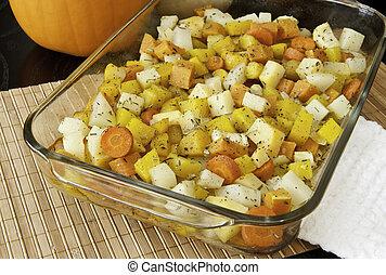 légumes, racine, rôti