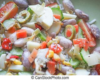 légumes, riz, basmati