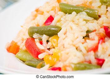 légumes, riz