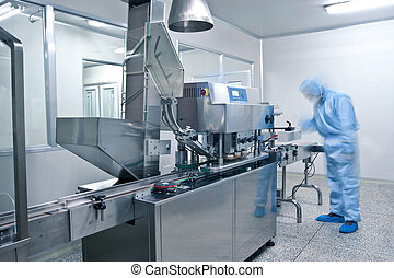 lékárnický, řádka, výroba, technik, pracovní