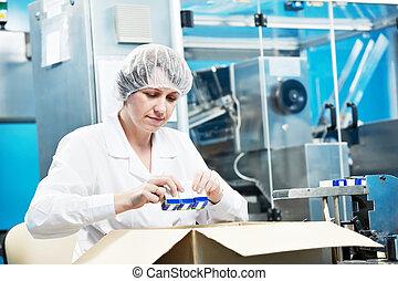 lékárnický, dělník, továrna