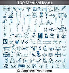lékařský, ikona, dát
