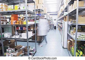 lékařský, továrna, potraviny, skladiště, domovní