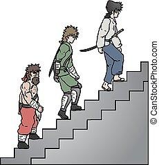 lépcsőfok, feláll