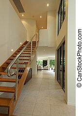 lépcsőház, és, előszoba, irány
